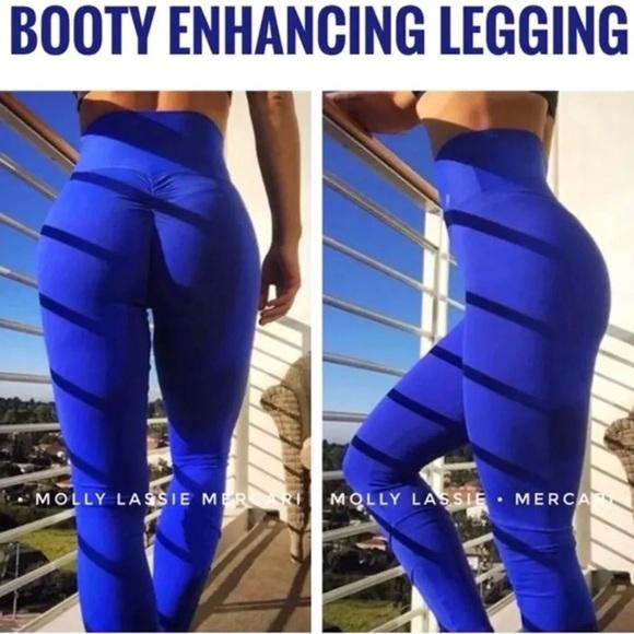 c6a44b2bb15975 Pants | Scrunch Butt Leggings High Waist Blue | Poshmark
